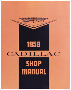 1959-1960 Cadillac Chassis & Shop Service Manual (Except Eldorado Brougham)