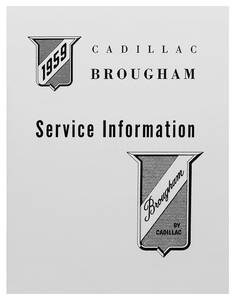 Cadillac Chassis & Shop Service Manual - Supplement To 1959 (Eldorado Brougham)
