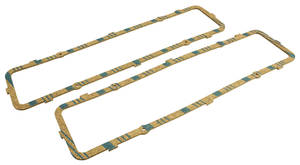 1957-62 Cadillac Valve Cover Gaskets (365 After Engine #7150; 390) Cork