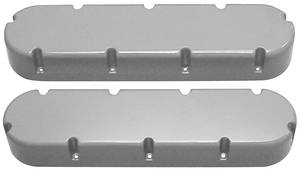 """1954-76 60 Special Valve Covers, Cast Aluminum """"Cadillac"""" 368-425-472-500 Flat Top Style"""