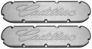 "1954-1976 60 Special Valve Covers, Cast Aluminum ""Cadillac"" 368-425-472-500 Flat Top Style Raised ""Cadillac"" Script"