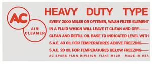 1957 Eldorado Air Cleaner Decal (Red)