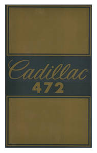 1968-1969 Cadillac Air Cleaner Decal (Eldorado 472)