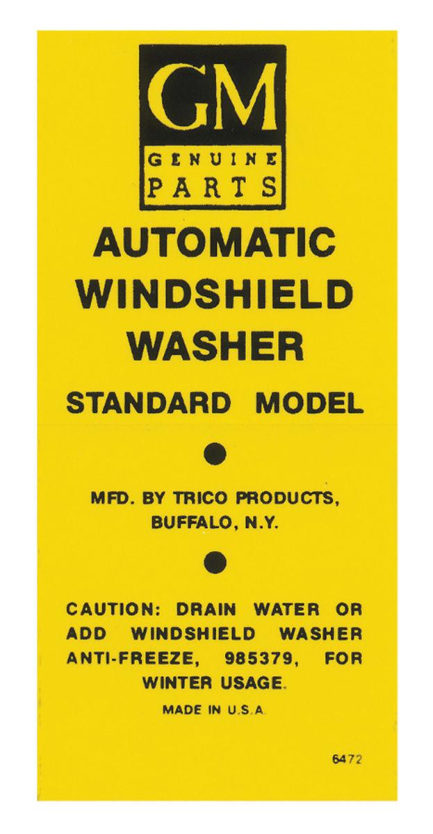 Photo of Windshield Washer Decal bottle bracket