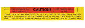 1965-1967 Cadillac Cooling System Decal - Caution (#1494296)