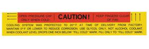 1965-67 Eldorado Cooling System Decal - Caution (#1494296)