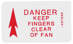 1970 Cadillac Cooling System Decal - Fan Caution (#1497669)