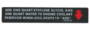 1971-76 Cadillac Cooling System Decal - Warning (#1498305)