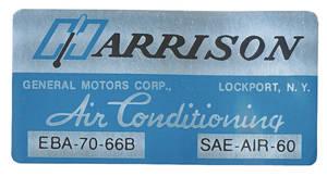 1966-1966 Bonneville Evaporator Box Decal EBA7066B