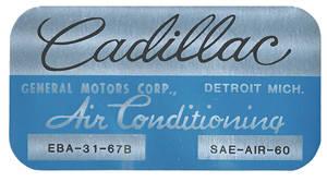 1967-1970 Cadillac Evaporator Box Decal EBA3167B