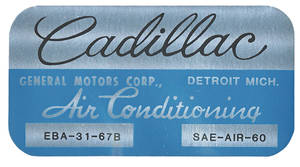 1967-70 Cadillac Evaporator Box Decal EBA3167B