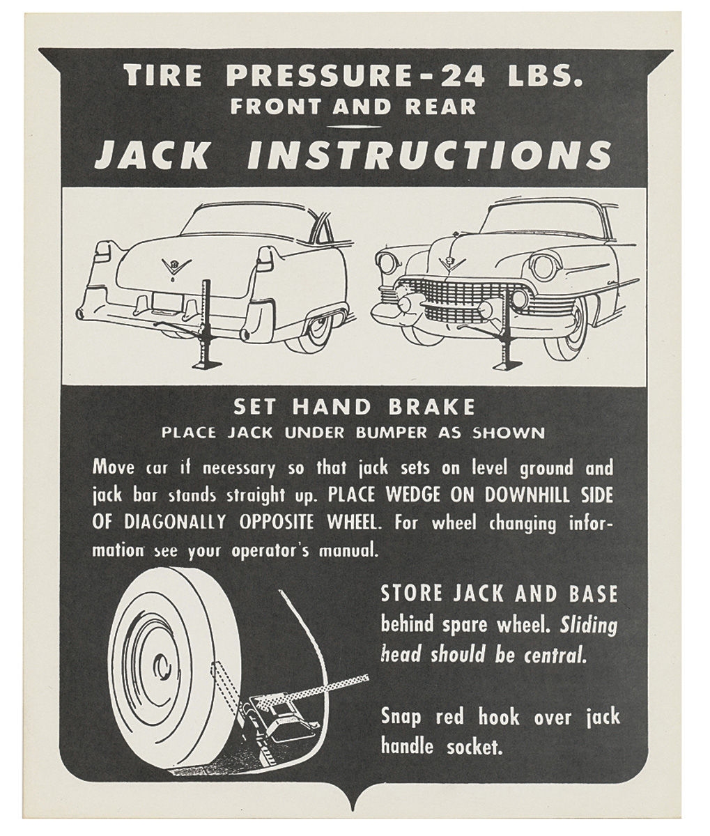 Photo of 60 Special Jacking Instruction Tag - Cardstock