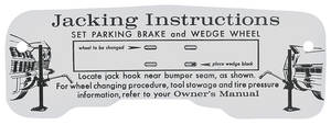 1964 Cadillac Jacking Instruction Decal