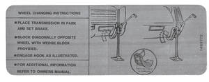 1968 Cadillac Jacking Instruction Decal (#1489772) Eldorado