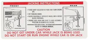 1970-1970 Cadillac Jacking Instruction Decal (#1495866) Eldorado