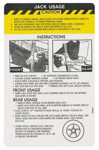 1974 Eldorado Jacking Instruction Decal (#1603811)