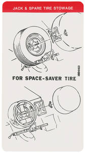 1974 Cadillac Spare Tire & Jack Stowage Decal (#1604413)