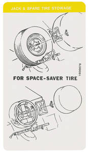 1975 Cadillac Spare Tire & Jack Stowage Decal (#1606676)