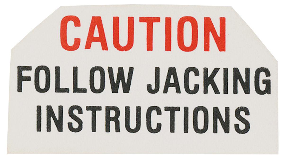 Photo of Trunk Decal Jack Base Caution Bonneville & Catalina