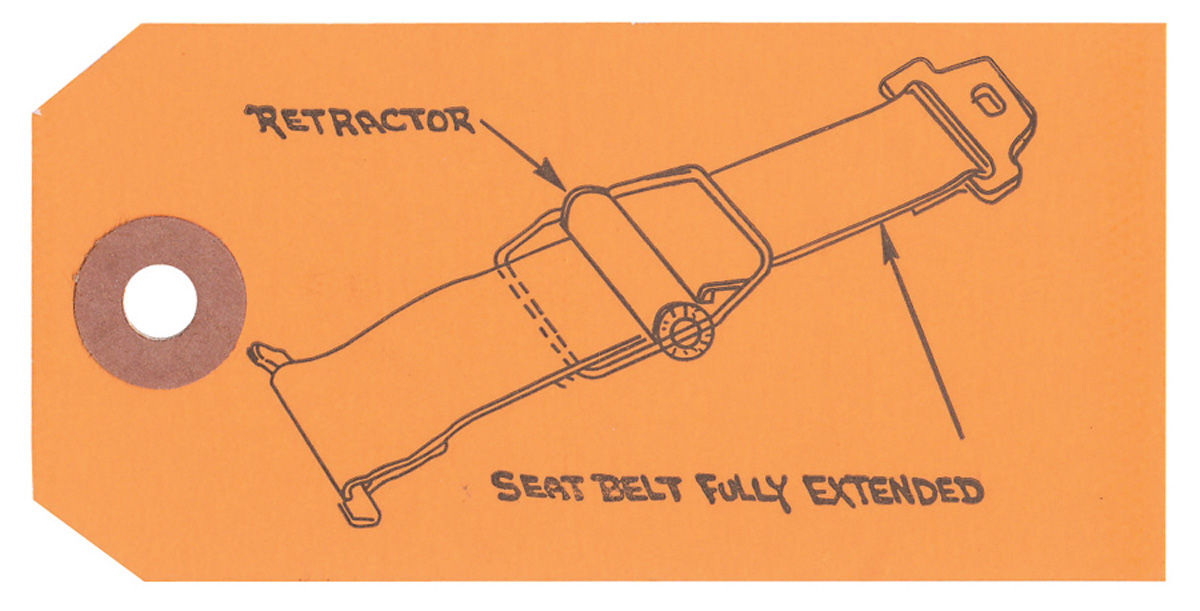1960 Full Size Seat Belt Instruction Tag   9789003    Opgi Com