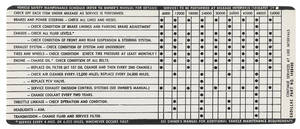 1971 Cadillac Vehicle Maintenance & Safety Decal (#1498490)