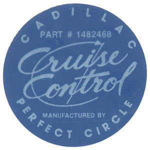 1963-65 Cadillac Cruise Control Decal (#1482468)