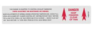 1969 Cadillac Emissions Decal - Emissions & Fan Caution (#1494707)