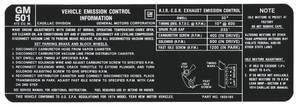 1974 DeVille Emissions Decal (#1605185) - Except Eldorado
