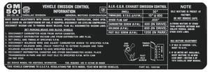 1974 Eldorado Emissions Decal - 500 CID (#1605186)