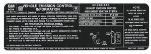 1976 Eldorado Emissions Decal - 500 CID (#1609055)