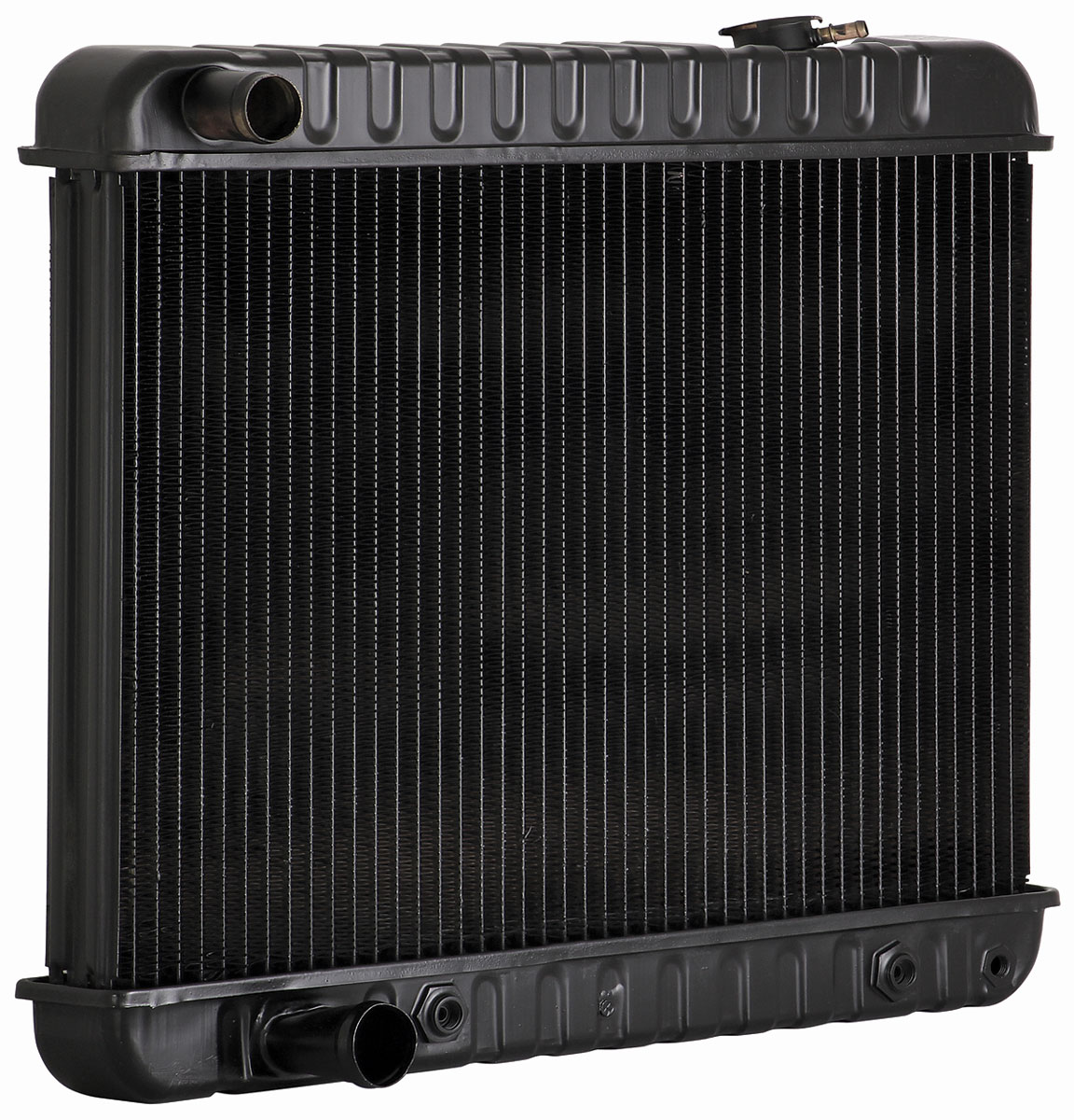 "Photo of Radiator, Original Style 17-1/2"" X 25-1/2"" X 2"" (Automatic Transmission) (with Air - Brackets to Engine Side)"