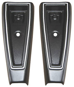 1973-1973 Cadillac Bumper Impact Strips - Deville and Fleetwood (Rear, Ends - Black)
