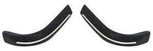 1973-1973 Cadillac Bumper Impact Strips - Eldorado (Rear, Bumper Ends - Black)