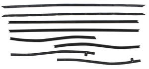 1969-1970 Cadillac Window Felts, Original Style - Front and Rear (DeVille Convertible), by Repops