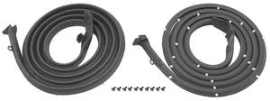 1971-74 Door Weatherstrip (Bonneville & Catalina) 4-Door Hardtop Rear, by Steele Rubber Products