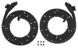 1959-60 Cadillac Door Weatherstrip (4-Door Hardtop) Front - Series 62 & Sedan DeVille (4-Window/6-Window), by Steele Rubber Products