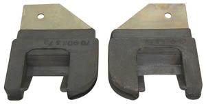 1957-58 Door Jamb Seals, U-Shape - 2-Door Hardtop (Series 62, Coupe DeVille & Eldorado Seville)