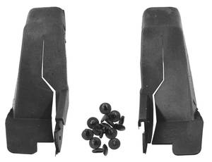 1961-64 Cadillac Door Jamb Seals, U-Shape - 4-Door (Rear) (Series 62 & Sedan DeVille 4-Window/6-Window; Series 62 Short Deck Sedan; Series 60 Special Fleetwood), by Steele Rubber Products
