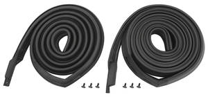 1967-1968 Cadillac Roof Rail Weatherstrip - 2-Door Hardtop (Calais & DeVille), by SoffSeal
