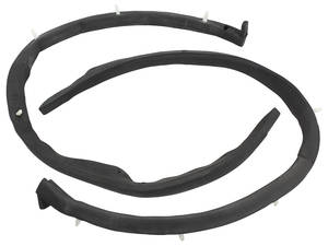 1959-60 Cadillac Pillar Post Weatherstrips, Convertible (Includes Clips)