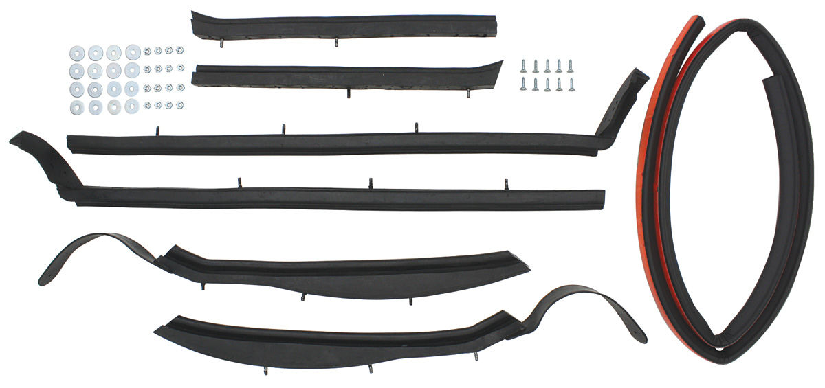 Photo of Convertible Top Weatherstrip Kit Bonneville And Catalina 7-piece