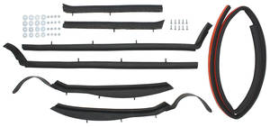 1965 Convertible Top Weatherstrip Kit Bonneville and Catalina 7-Piece, by Metro Moulded Parts