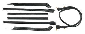 1961-1964 Cadillac Convertible Top Weatherstrip Kit (Seven-Piece), by Metro Moulded Parts