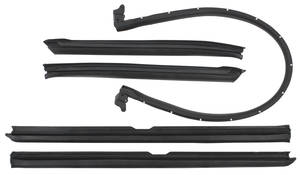 1971-1972 Catalina Convertible Top Weatherstrip Kit Catalina 5-Piece, by Metro Moulded Parts