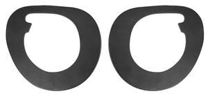 1959-1959 Cadillac Windshield Wiper Escutcheon Gaskets (Series 62 & Series 63 - Except 6-Window), by Steele Rubber Products