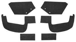 1957-58 Cadillac Fenderwell A-Arm Seals, Inner (Except Brougham) Six-Piece