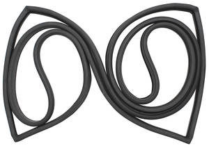 1961-1961 Cadillac Back Window Weatherstrip - 4-Door (Series 62 & Sedan DeVille - 4-Window), by Steele Rubber Products