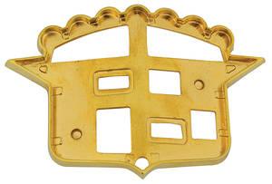 Cadillac Hood Crest Bezel, 1955