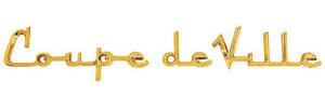 Cadillac Fender Emblem, 1956 Coupe DeVille (Script)