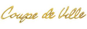 """Cadillac Fender Emblem, 1957 """"Coup DeVille"""" (Script)"""